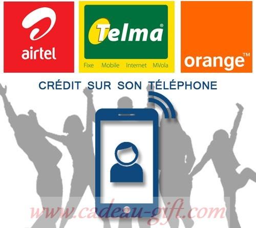 Recharge Crédit sur téléphone MADAGASCAR TELMA AIRTEL