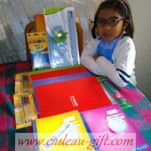 kit fournitures scolaires livraison à Madagascar