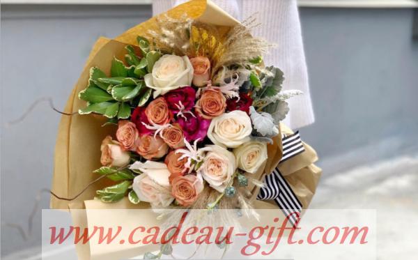 bouquet de fleurs et chocolat en livraison à domicile à Madagascar