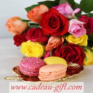 macaron bouquet de fleurs en livraison à domicile Antananarivo