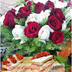 Pâtisseries et bouquet de fleurs Antananarivo