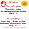 Menu Léger Fête des Pères Antananarivo
